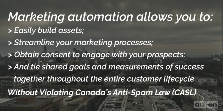 Rethink Marketing Automation – for the CASL-Compliant Marketer - Act-On Marketing Action Blog | The MarTech Digest | Scoop.it