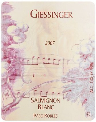 2007 Giessinger Sauvignon Blanc Reserve, Paso Robles 750 mL | Review Best Wines Online | Scoop.it