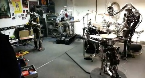 Great Technology Advancement: A Music Band Formed By Metal Robots [Video] | creative title | Scoop.it