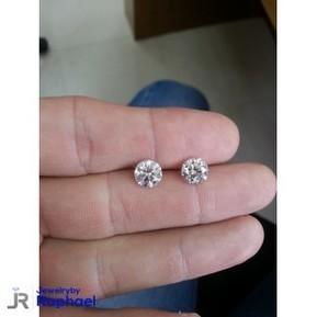 4.04 Carat H SI1 Round Diamond Earrings 100% Natural set in 14K WG Stud Mountings Gorgeous Sparkle, Must See!! | jewelrybyraphael | Scoop.it