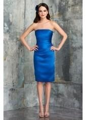 Sheath Column Strapless Knee Length Blue Bridesmaid Dress Bbbj0070 for $203 | 2014 landybridal wedding party dresses | Scoop.it