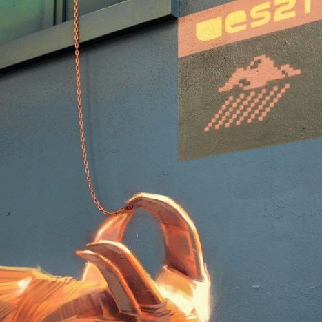 Playful New Murals and Paintings by 'Wes21' Fuse Technology, Humor, and the Natural World... | Art for art's sake... | Scoop.it