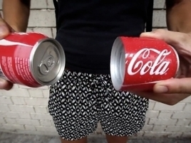 Coca-Cola's New Can Splits in Half So You Can Really Share the Happiness | FMCG brands | Scoop.it