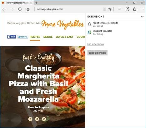 Microsoft Edge extensions now available to preview | News de la semaine .net | Scoop.it