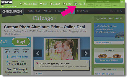 Groupon is the first merchant to facilitate & encourage their affiliates to pin on Pinterest. | LL Social | Pinterest | Scoop.it