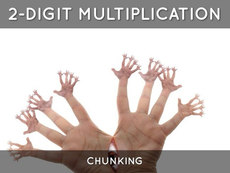 """""""Multiplication By Chunking"""" - A Haiku Deck by Harriette Knight   Chunking in Mathematics   Scoop.it"""