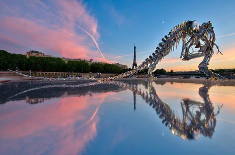 Giant Chrome T-Rex in Paris | Cool Art | Scoop.it