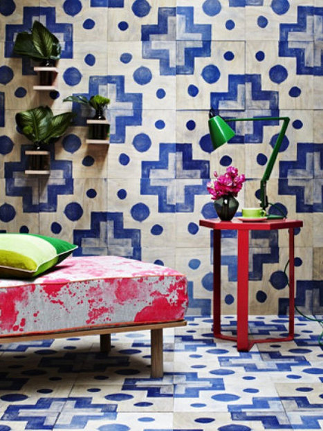 Screen printed timber wall tiles - no grout required - State of Green | Sustainable living | Scoop.it