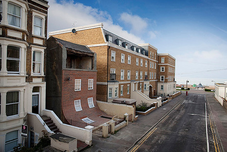 A Brick Facade Appears to Melt Off of an Apartment Building in Margate | Art, Design & Technology | Scoop.it