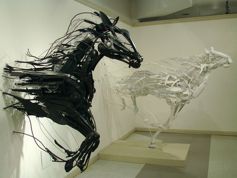 Animal Sculptures Made from Reclaimed Household Objects | Arts graphiques | Scoop.it