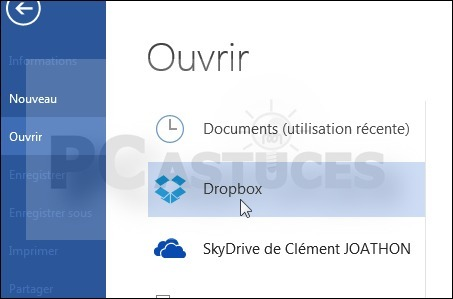[Astuce] Ajouter un raccourci vers sa Dropbox - Office 2013 | Time to Learn | Scoop.it