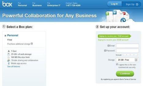 Una promoción de Box que otorga 25 Gb de espacio gratuito a los nuevos usuarios   Recull diari   Scoop.it