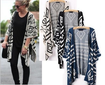 Geometry Graphic Batwing Cardigan from yourfashionsandcute | bebpiloo | Scoop.it