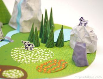 My Paper World - Wild Green - Mr Printables | crafts for kids | Scoop.it