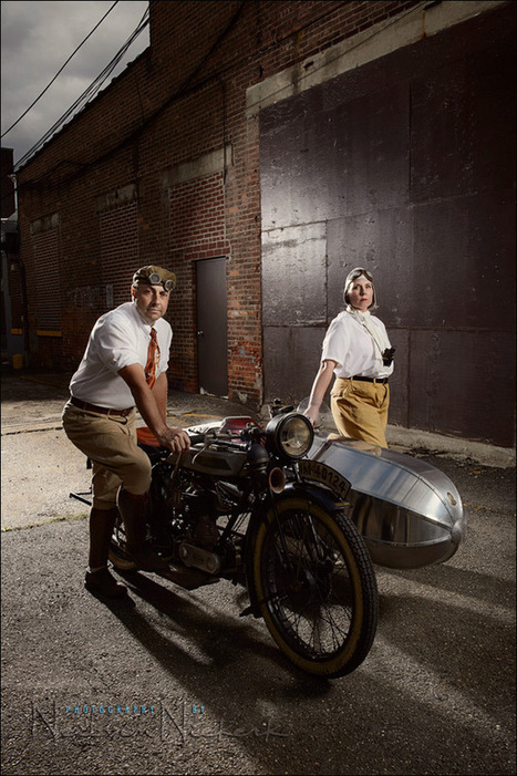 photographing a vintage motorbike on location, with Profoto lighting - Neil vN - tangents   ISO102400   Scoop.it