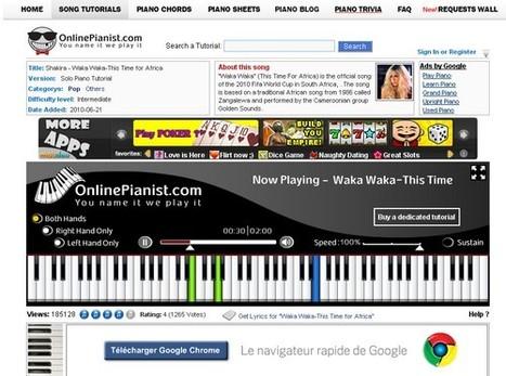 OnlinePianist : pour apprendre gratuitement le piano en ligne | TranCool | Time to Learn | Scoop.it