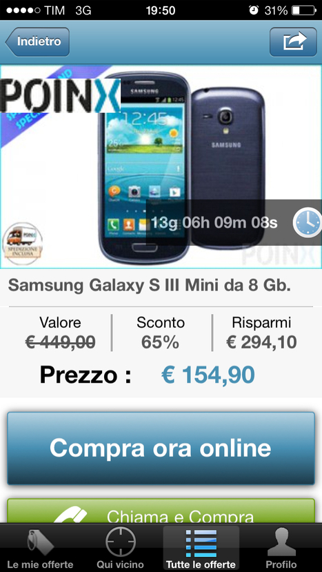 -64% Samsung Galaxy S III Mini da 8 Gb | Offerte Sconti, Coupon e Codici sconto | Scoop.it