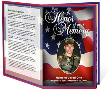 U.S. Military Armed Forces Funeral Templates | Memorial Service Program | Scoop.it