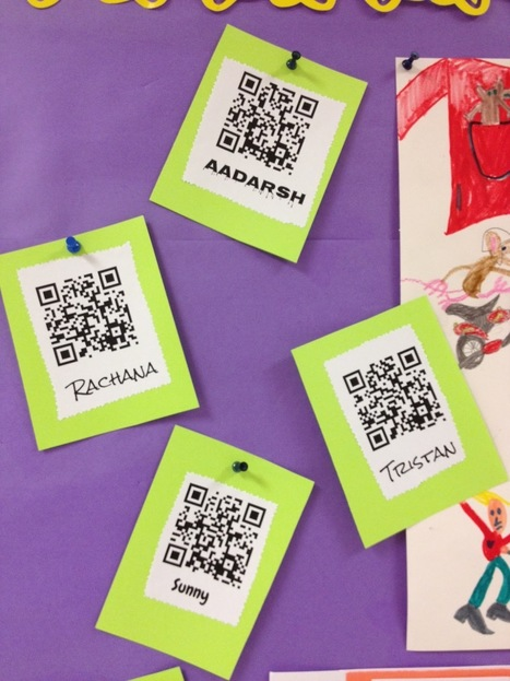 Audio QR Codes: Author Posters in 2nd Grade | iPad i undervisningen | Scoop.it