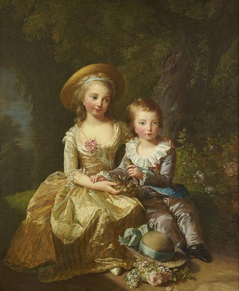 Œuvres commentées d'Élisabeth Vigée Le Brun: Marie-Thérèse et son frère le dauphin | Arts et FLE | Scoop.it