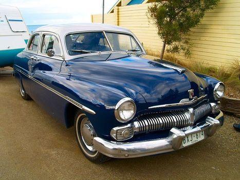 blue classic car mercury | cars | Scoop.it