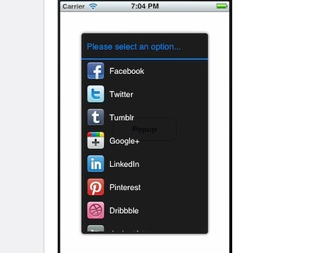 iOS Open Source : Popup with Selection List   iOS dev   Scoop.it
