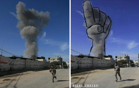 Smoke From Israeli Rocket Strikes Turned Into Powerful Images | Syria Will be Free | Scoop.it