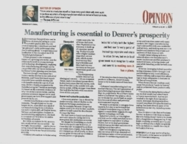 Announcement: Modern Manufacturing Moving Forward in Denver | Energy News | Scoop.it