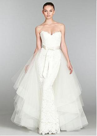 [221.58] Charming Lace & Tulle & Satin Trumpet Sweetheart Neckline Wedding Dress With Detachable Train - Dressilyme.com | Wedding dresses | Scoop.it