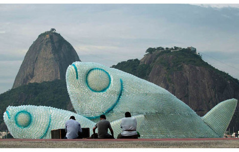 Giant Fish Sculptures Made from Discarded Plastic Bottles   Recycle Design   Scoop.it