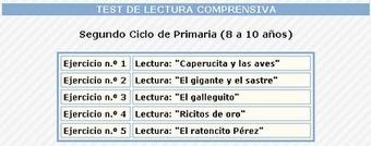 Las TIC en Primaria: TEST DE LECTURA COMPRENSIVA | Tecnología en la educación | Scoop.it