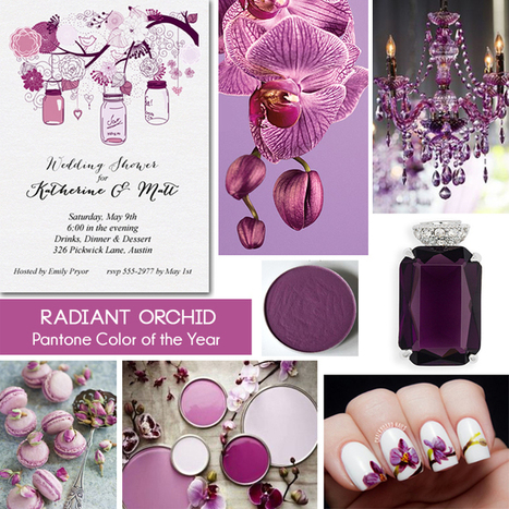 Radiant Orchid Mason Jar Invitations and Inspiration | Party Invitations | Scoop.it