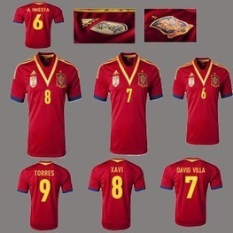 Spain Home soccer jerseys, T-Shirts, Spain football shirts, apparel, gear, clothing 2013 | FIFA Confederations Cup Brazil 2013 | Scoop.it