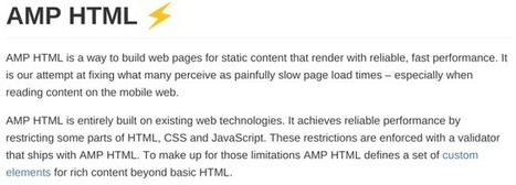 To a faster - and distributed - web (AMP HTML) | News, Code and Data | Scoop.it