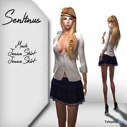 Jenna Shirt and Skirt Group Gift by Sentinus   Teleport Hub - Second Life Freebies   Second Life Freebies   Scoop.it