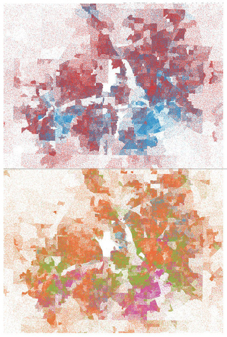 Short Sharp Science: Pointillist data map shows the changing face of Texas | StylingM@p | Scoop.it