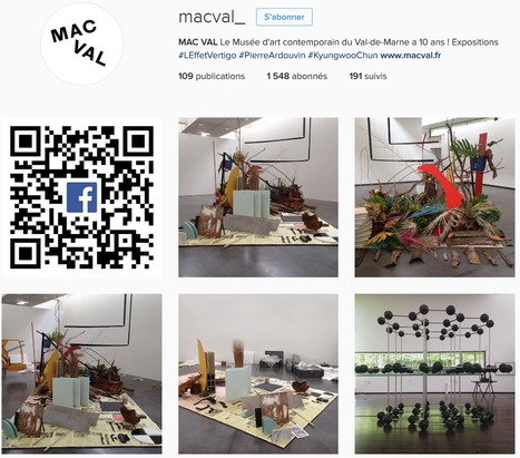 [DOSSIER CLIC] Le MAC VAL Musée d'Art Contemporain du Val-de-Marne a connu une hausse de 11% de son nombre d'abonnés Instagram en mai 2016 | Clic France | Scoop.it