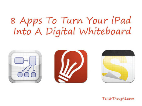 8 Apps To Turn Your iPad Into A Digital Whiteboard - TeachThought | Tools for Teachers | Scoop.it