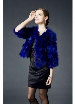 Women's Furs :: Fur Jackets :: Fox :: Dyed Fox Fur Fashion Jacket - | furs | Scoop.it