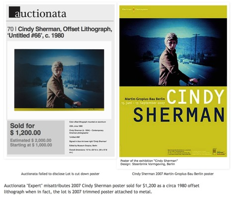 Why did Auctionata Expert misattribute 2007 Poster as 1980 Cindy Sherman? | Fine Art News | Scoop.it