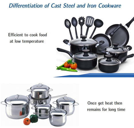 What are differentiation between steel and iron castings cookware? | Casting Industries | Scoop.it