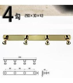 Multi-functional  Wall Mounted Polished Brass Bathroom Robe Hook with 4 Hooks G-214-A | LED Bathroom Faucet | Scoop.it