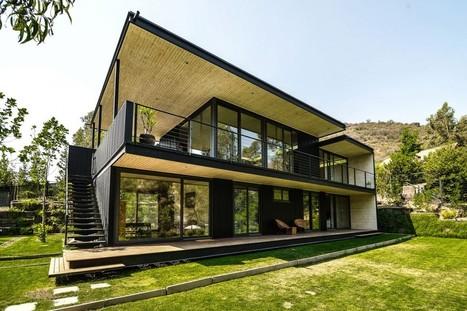 Splendide maison bois et m tal contempor - Maison bois metal ...