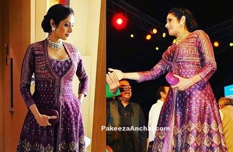 Sridevi in Anita Dongre Outfit with Braided Bun Style | Indian Fashion Updates | Scoop.it