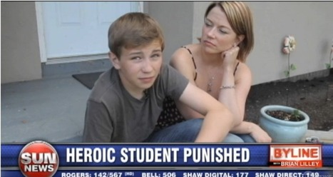 Heroic boy punished for stopping knife wielding attacker at school | Bullying | Scoop.it