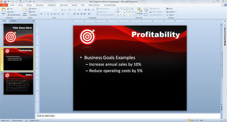 Red Target PowerPoint Template | abc | Scoop.it