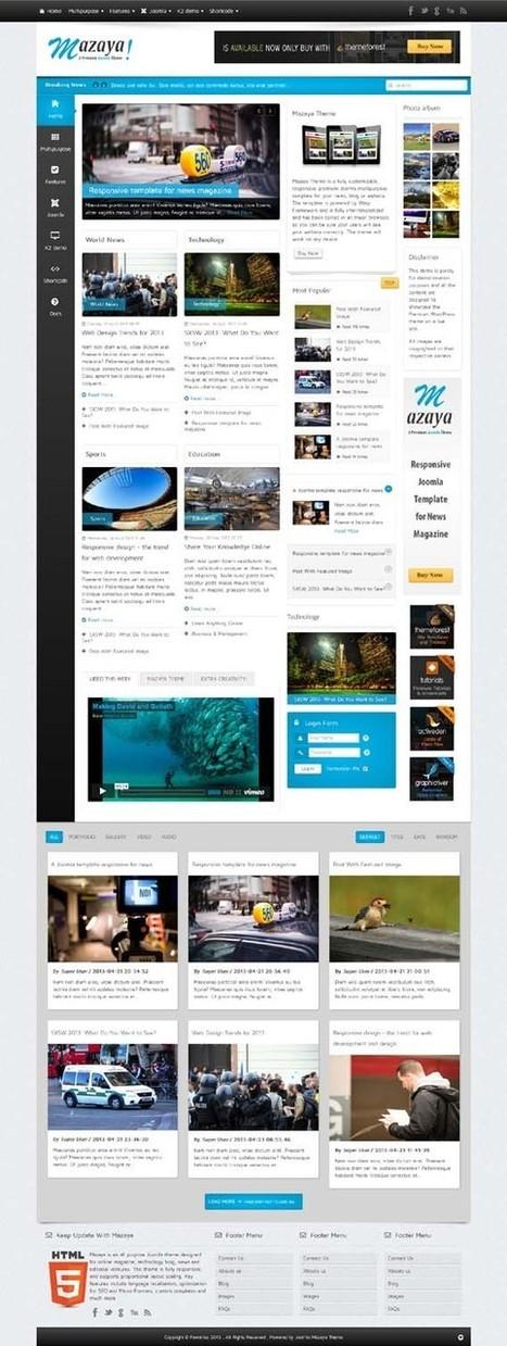 Mazaya, Joomla Responsive News Multipurpose Template | Premium Download | Samsung Tab | Scoop.it
