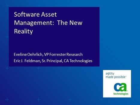 Software Asset Management: The New Reality | BrightTALK | SAM | Scoop.it