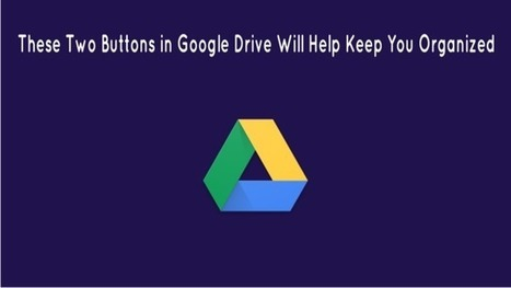 These Two Buttons in Google Drive Will Help Keep You Organized | The Gooru | Learning Bytes from The Consultants-E | Scoop.it