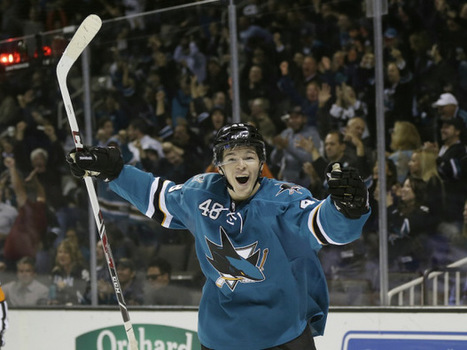 Spectacular scoring display by San Jose's Tomas Hertl runs afoul of NHL sourpusses | Daily Hockey Features | Scoop.it